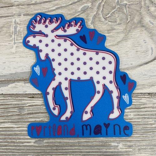 Blue 84 Sticker- Cookie Moose