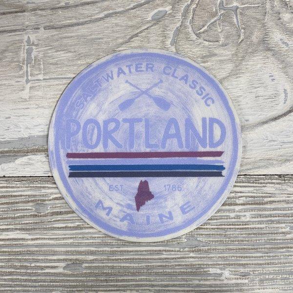 Blue 84 Sticker- Delicato Portland
