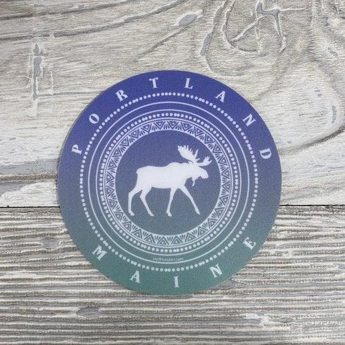 Blue 84 Sticker- Hair Band Moose Maine