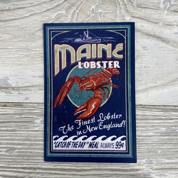 Lantern Press 36392-Sticker-Lobster Vintage Sign