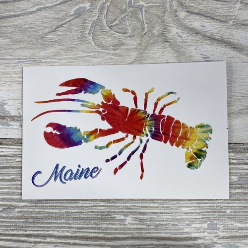 Lantern Press 83714-Sticker-Tie Dye Lobster