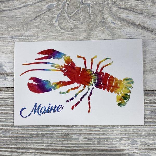 Lantern Press 83714-Sticker-Tie Dye Lobster