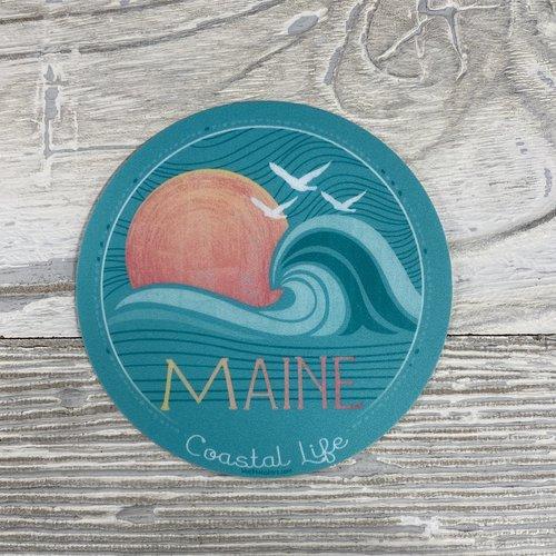Blue 84 Sticker- Insight Wave