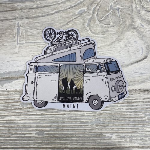 Bumwraps Mountain  Van Sticker