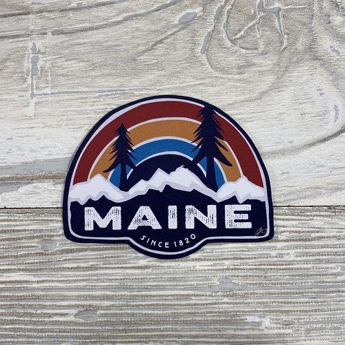 Bumwraps Rainbow Pine Sticker