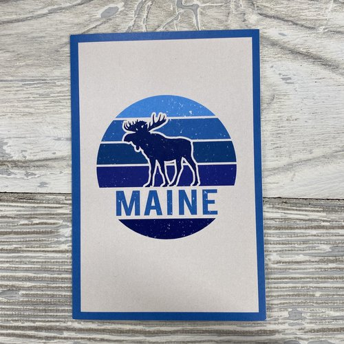 Lantern Press 85122-Sticker-Moose Badge