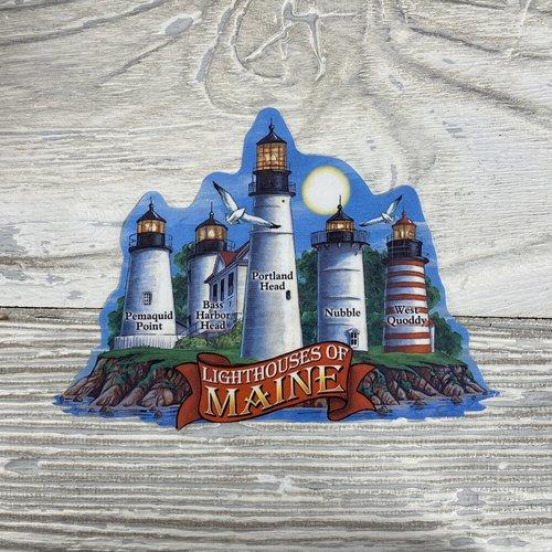 Maine Scene 37-Sticker-LH of Maine