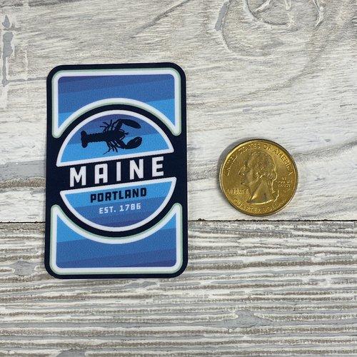 Lantern Press 85120-Sticker-Small-Lobster Badge