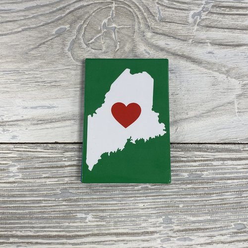 Maine Scene 3008-Magnet-Love Maine (Heart in map)