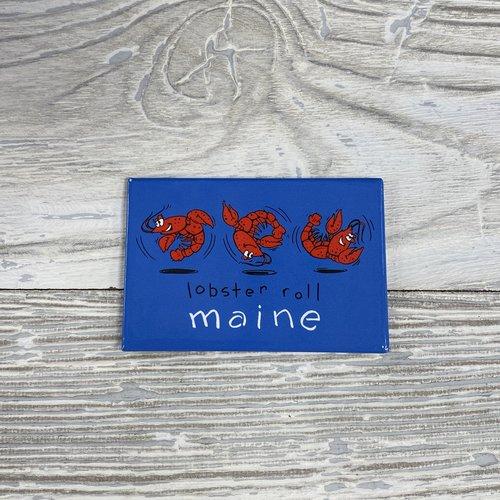 Maine Scene 1146-Magnet-Rectangle Lobster Roll