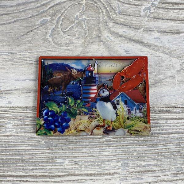 Maine Scene 2056-Magnet-Bi-Level ME Collage Glaze