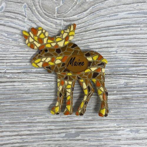 Mosaic Moose Magnet