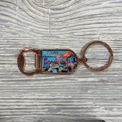Maine Scene 435-Keychain-Rose Gold Maine Collage Opener