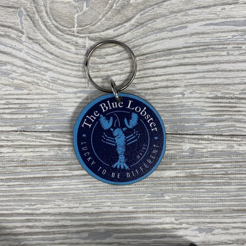 Entertainya WK020-KeyChain-Wooden Blue Lobster