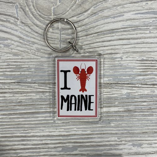 Lantern Press 83685-Keychain-I Love Lobster