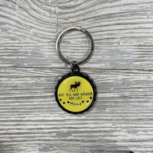 Maine Scene 434-Keychain-Bottle Cap