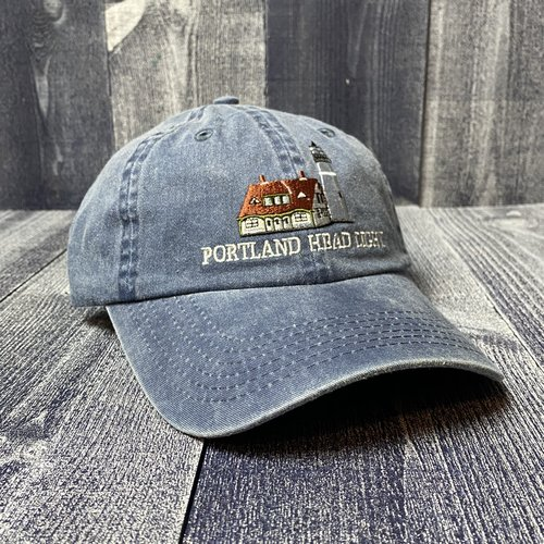 Maine Scene Embroidered Portland Head Light Baseball Hat- 2 COLORS!