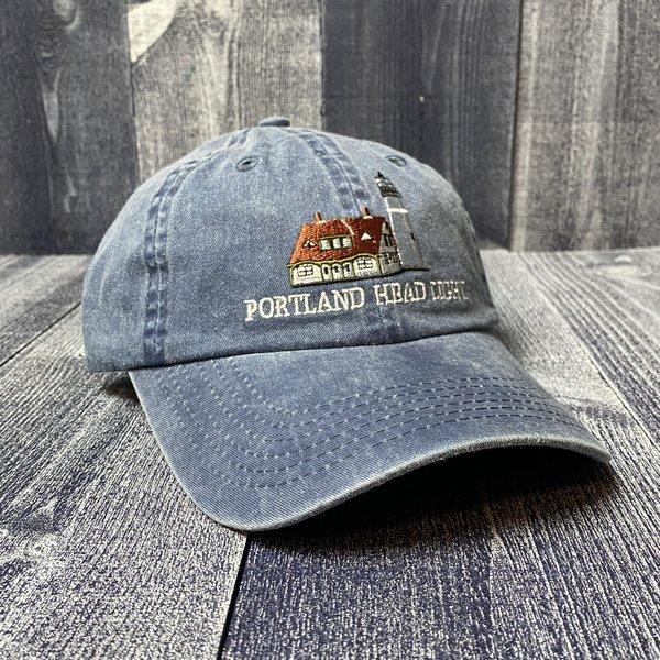 Maine Scene Embroidered Portland Head Light Baseball Hat- 2 COLORS!