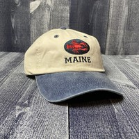Maine Scene Embroidered Lobster Oval Baseball Hat