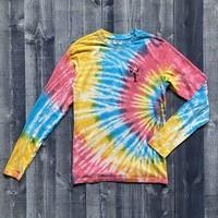 Fundy The Blue Lobster Rainbow Tye Dye Long Sleeve