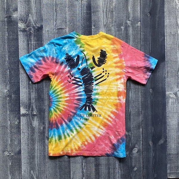 Fundy The Blue Lobster Rainbow Tye Dye T-Shirt