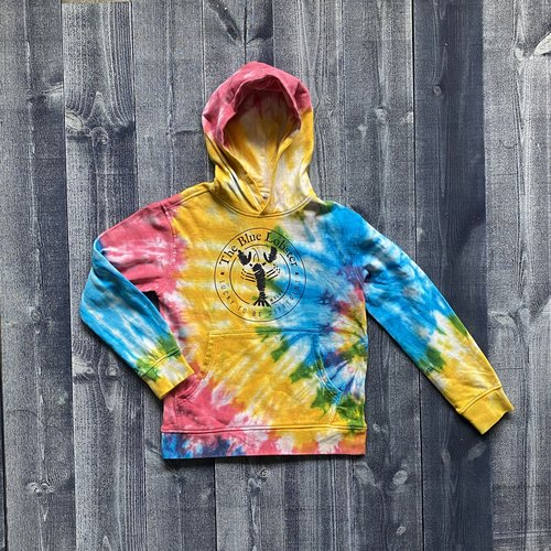 Fundy The Blue Lobster Youth Rainbow Tye Dye Hoodie
