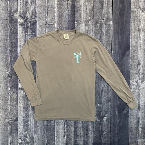 Coed The Blue Lobster Longsleeve T-shirt- Gray