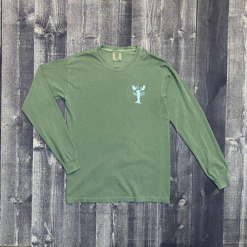 Coed The Blue Lobster Longsleeve T-shirt- Light Green