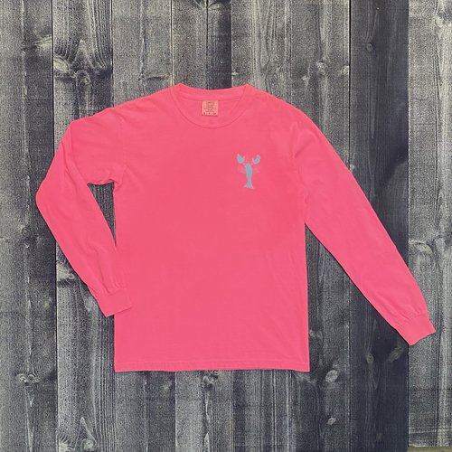 Coed The Blue Lobster Longsleeve T-shirt- Neon Pink
