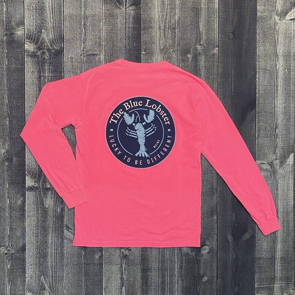 Coed The Blue Lobster Longsleeve T-shirt- Neon Pink