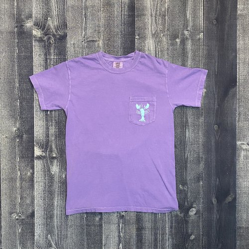 Coed The Blue Lobster Maine Pocket T-shirt-Violet