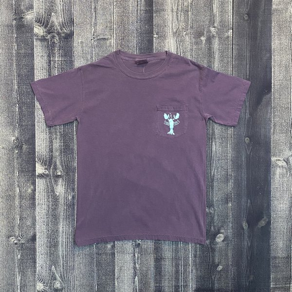 Coed The Blue Lobster Maine Pocket T-shirt-Grape