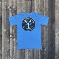 Coed The Blue Lobster Maine Pocket T-shirt- Royal Carib
