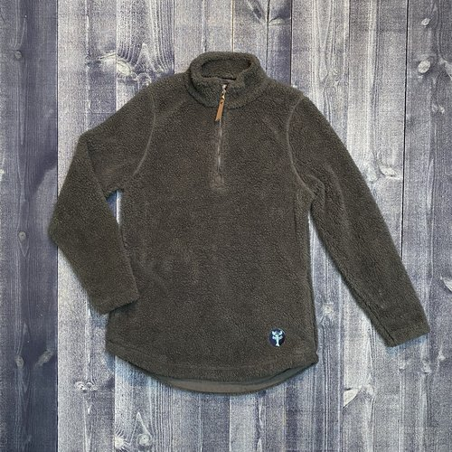 Beantown The Blue Lobster Ladies Fuzzy 1/4 Zip