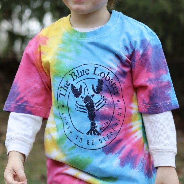 Fundy The Blue Lobster Youth Rainbow Tye Dye T-shirt