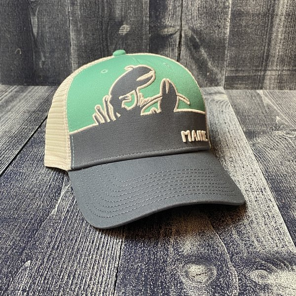 MV Flat Brim Green/Grey Lobster Hat