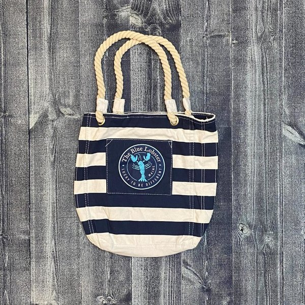 Get A Gadget Striped Blue Lobster Tote