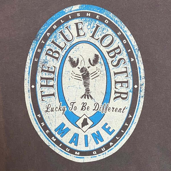 Entertainya The Blue Lobster Beer Label T-shirt
