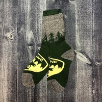 FBF Sock-The Badge Moose