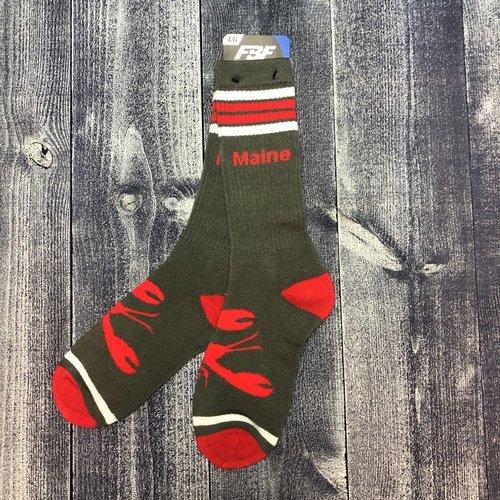 Sock-Maine Lobster 4 Stripe-LG