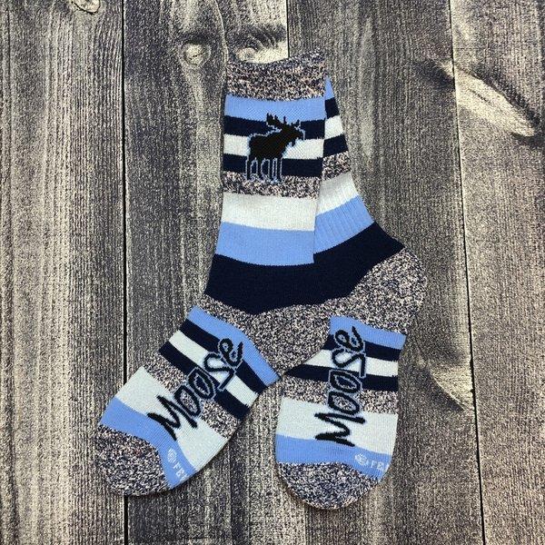FBF Socks-Mountain Stripe Moose-Med