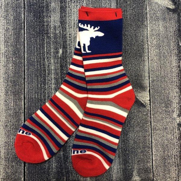 FBF Sock-Maine Moose Lotta Stripe-Med