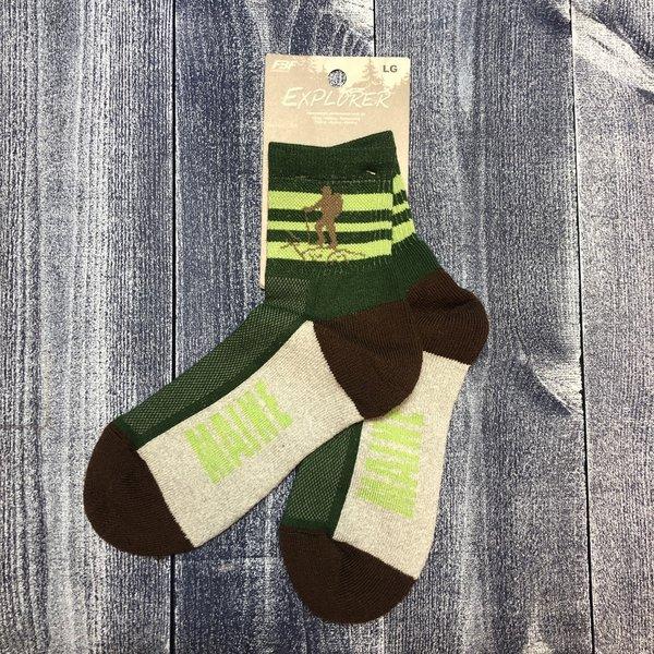 FBF Sock-Maine Hiker Stripers-LG