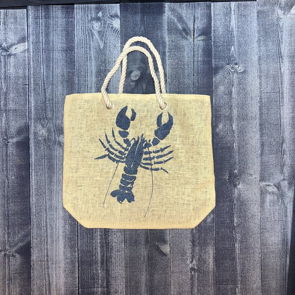 Get A Gadget Burlap-Bag-Blue Lobster