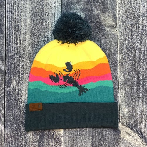 Localeoutdoor Maine Blue Lobster Ranges Winter Hat
