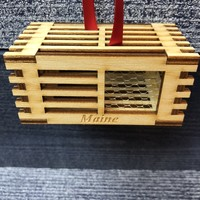 The Village Craftsman Handmade Lobster Trap Christmas Ornament