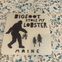 Blue 84 Sticker- Bigfoot Stole Lobster