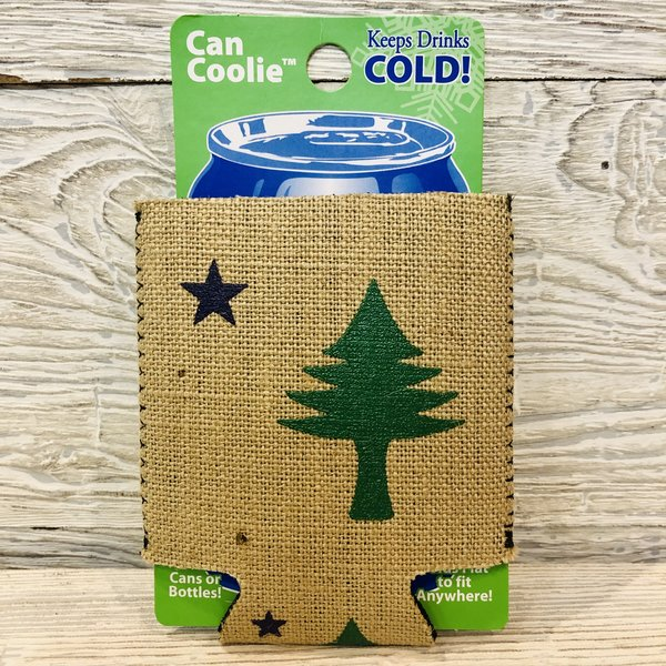 Entertainya Old Maine Flag Burlap Can Coozie