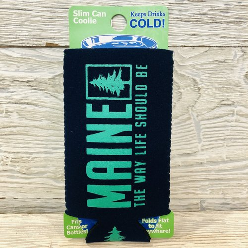 Entertainya Charcoal Pine Slim Can Coozie