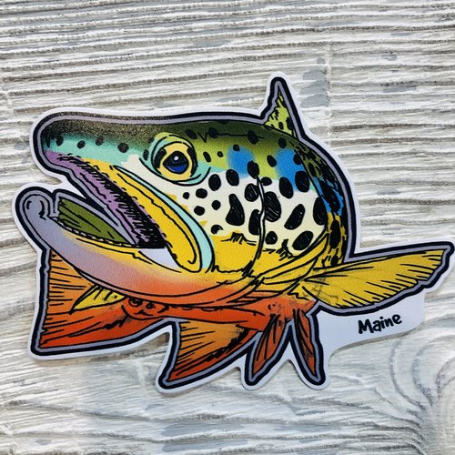 Bumwraps Troll Trout Sticker
